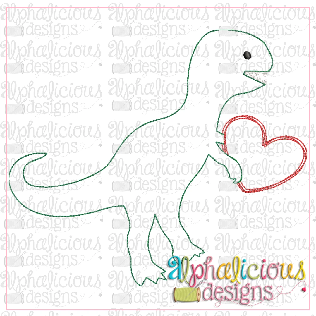 Valentine Dino with Heart-Triple Bean
