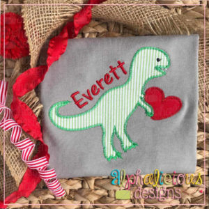 Valentine Dino with Heart-Zig Zag