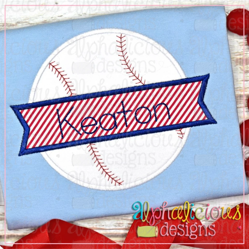 Baseball and Banner-Satin