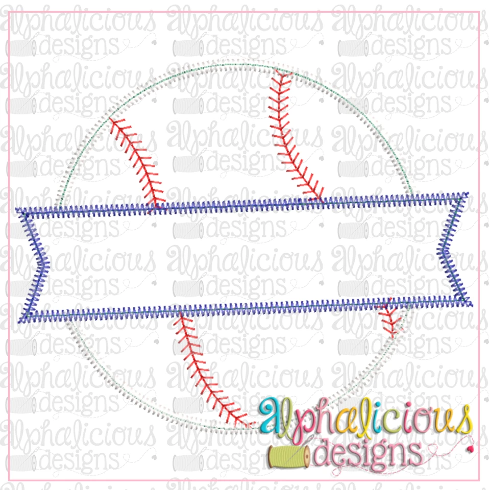 Baseball and Banner-ZigZag