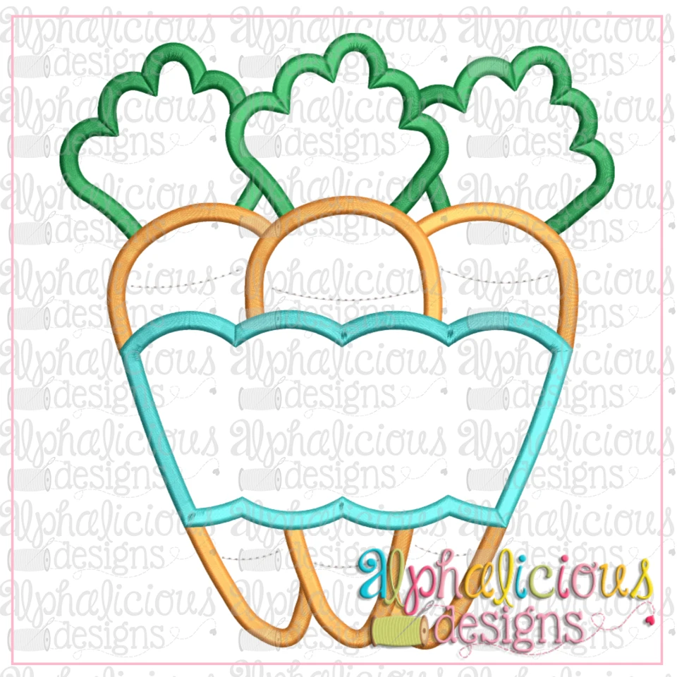Carrots With Banner-Satin