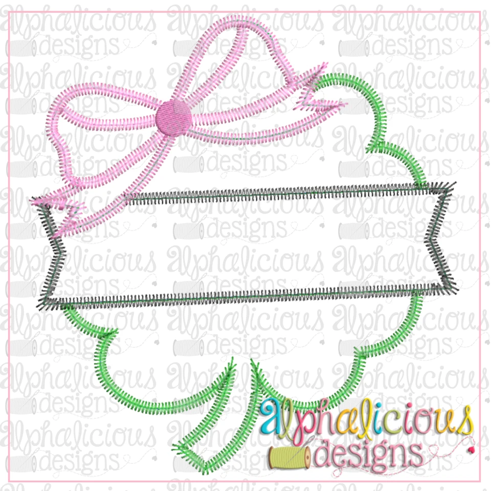 Clover with Bow and Banner-ZigZag