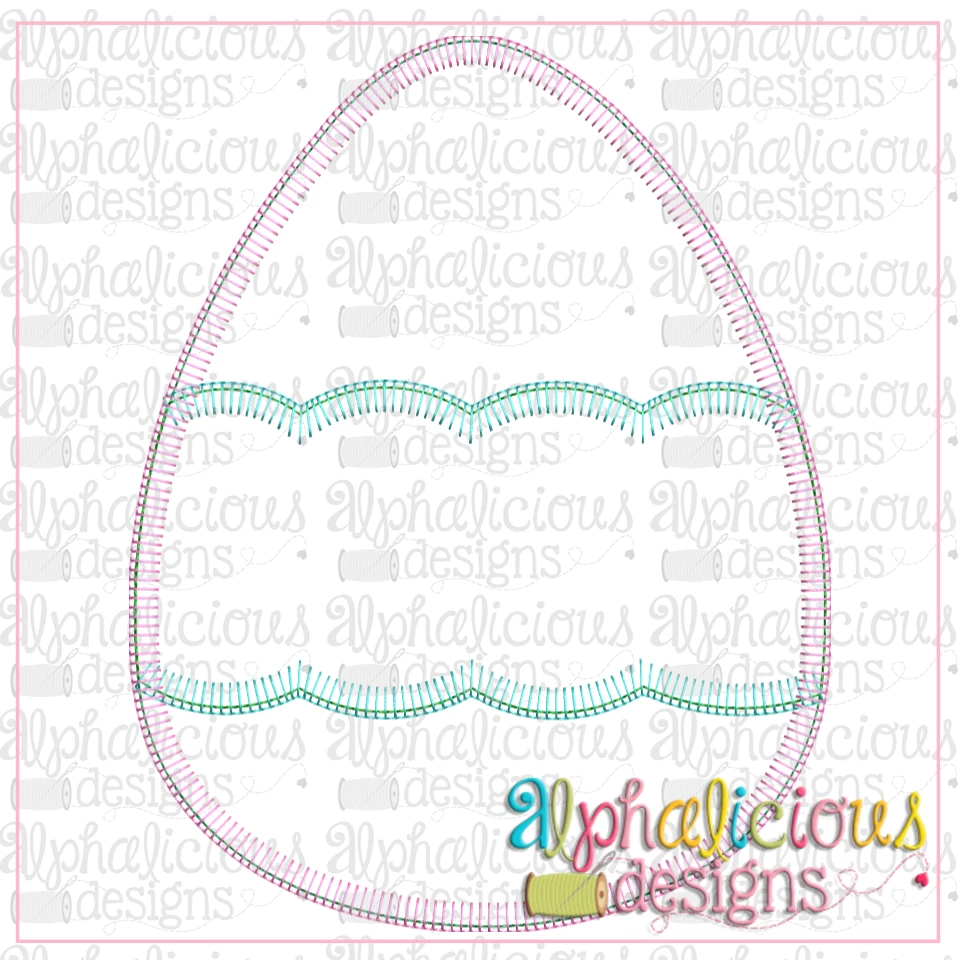 Egg with Scallop Banner-Blanket