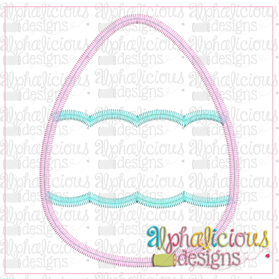Egg with Scallop Banner-Zig Zag