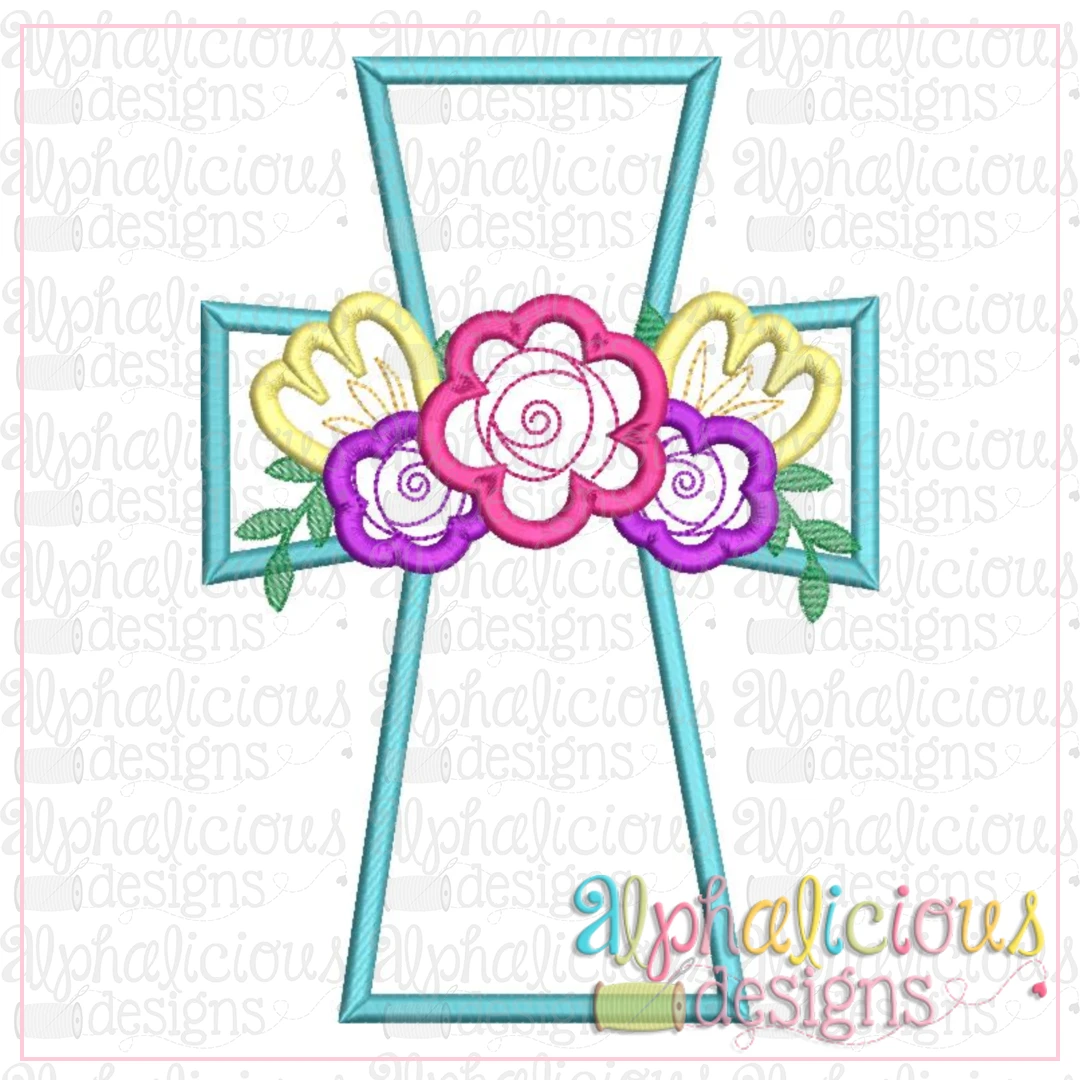 Floral Cross-Satin