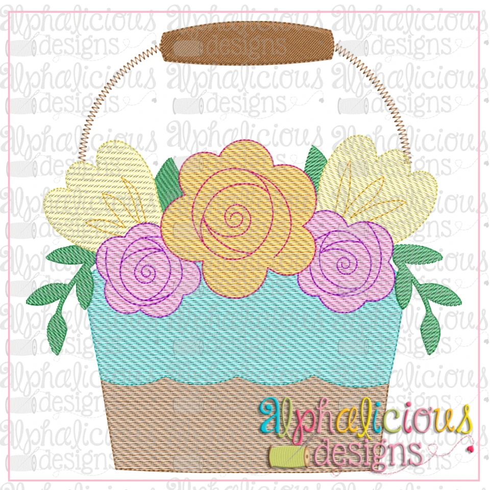 Flower Market Pail-Sketch