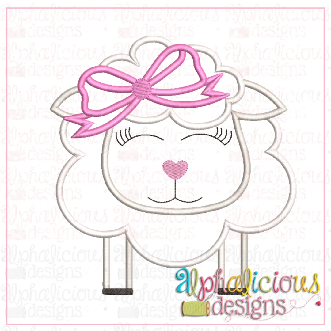 Sheep With Bow-Satin