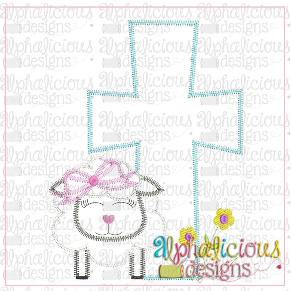 Sheep with Bow and Cross-Zig Zag