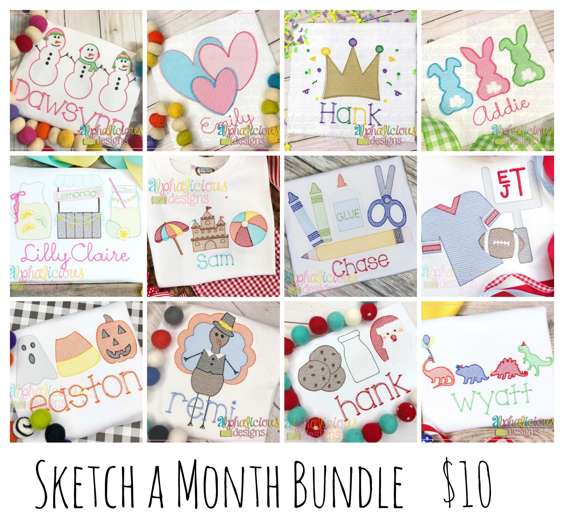 Sketch of the month BUNDLE