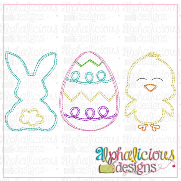 Bunny Egg Chick-Scribble