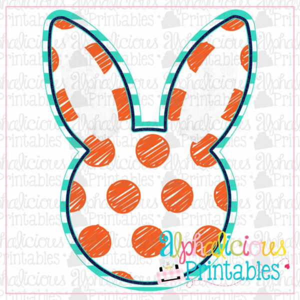 Bunny Head-dots-Printable