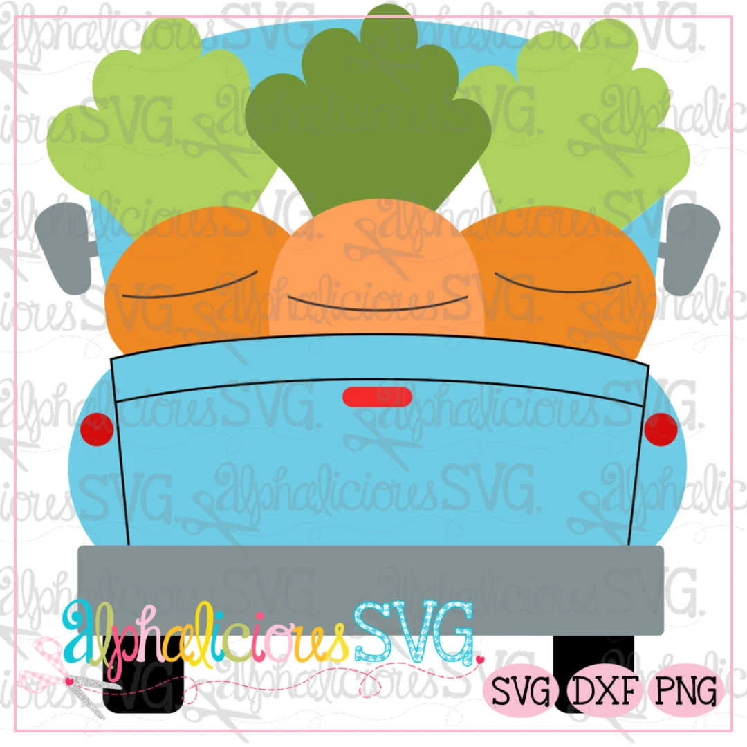 Carrot Farm Truck SVG