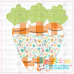 Carrots with Banner-Floral-Printable