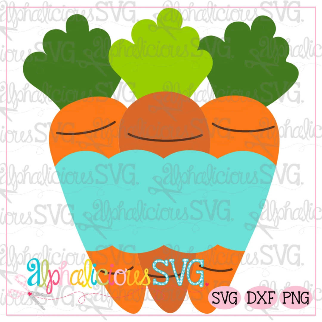 Carrots with Banner SVG