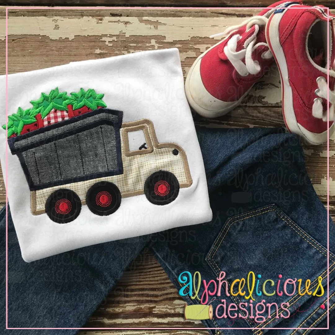 Dump Truck With Strawberries-Satin