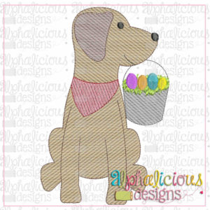 Easter Pail Pup-Sketch