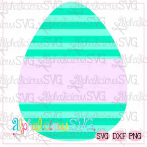 Egg with Banner-Stripes-SVG
