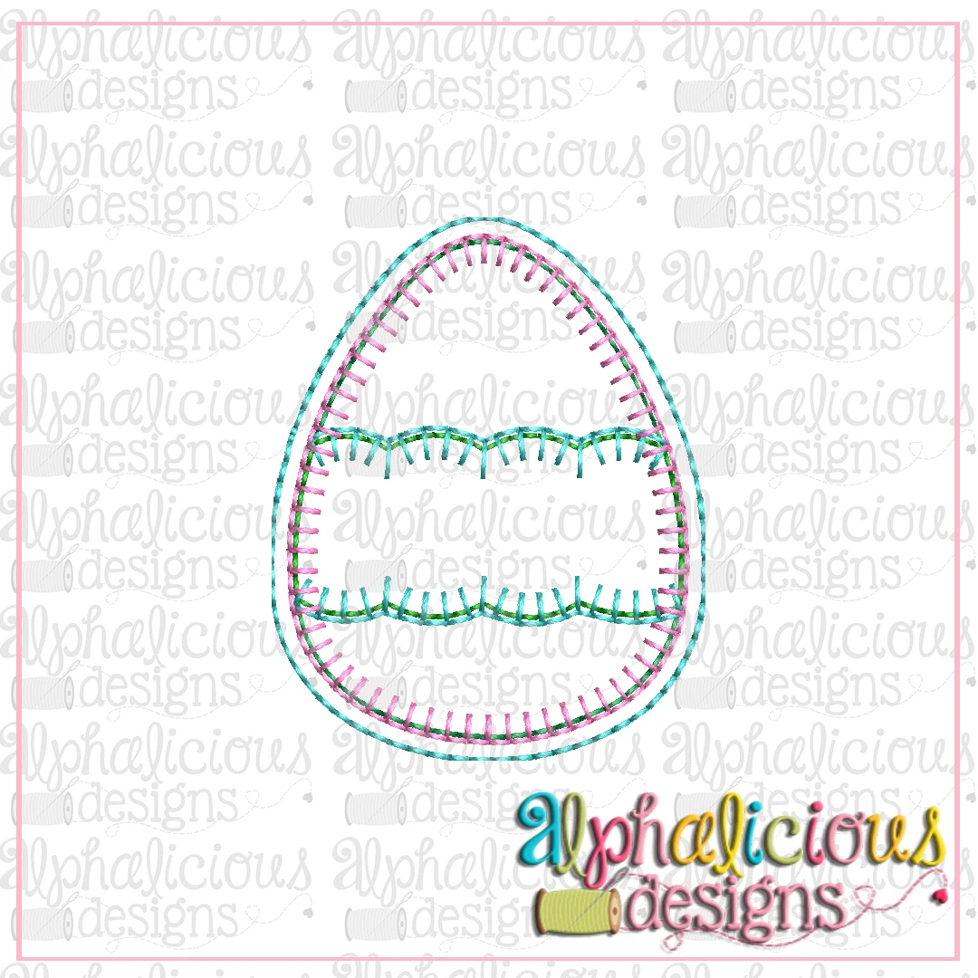 Egg with Scallop Banner Feltie
