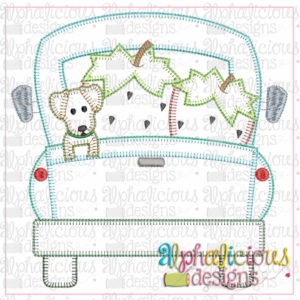 Farm Truck with Strawberries and Pup-Blanket