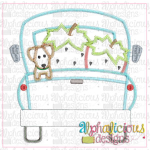 Farm Truck with Strawberries and Pup-Zig Zag