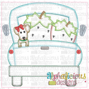 Farm Truck with Strawberries and Pup with Bow-Blanket