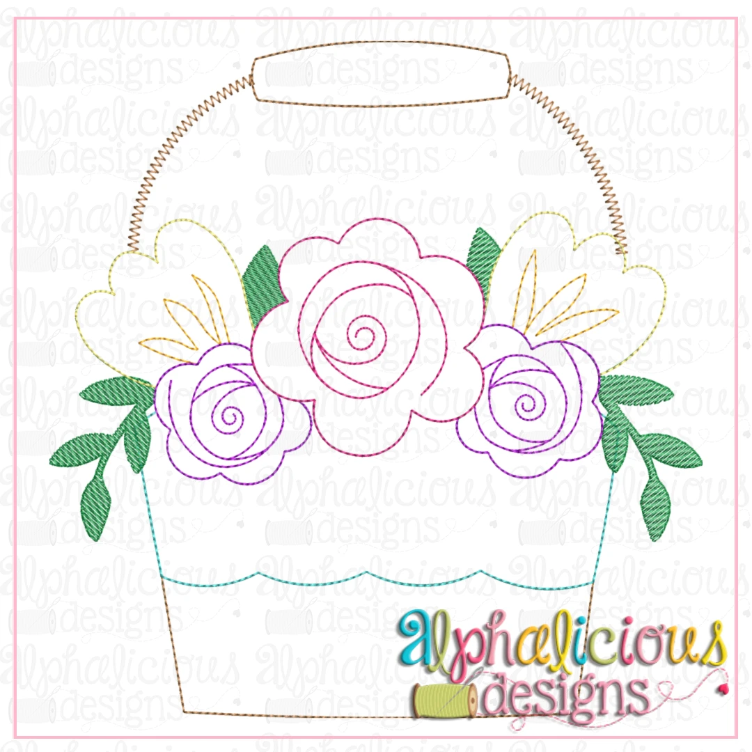 Floral Bucket-Triple Bean