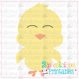 Little Chick-Cross Hatch-Printable