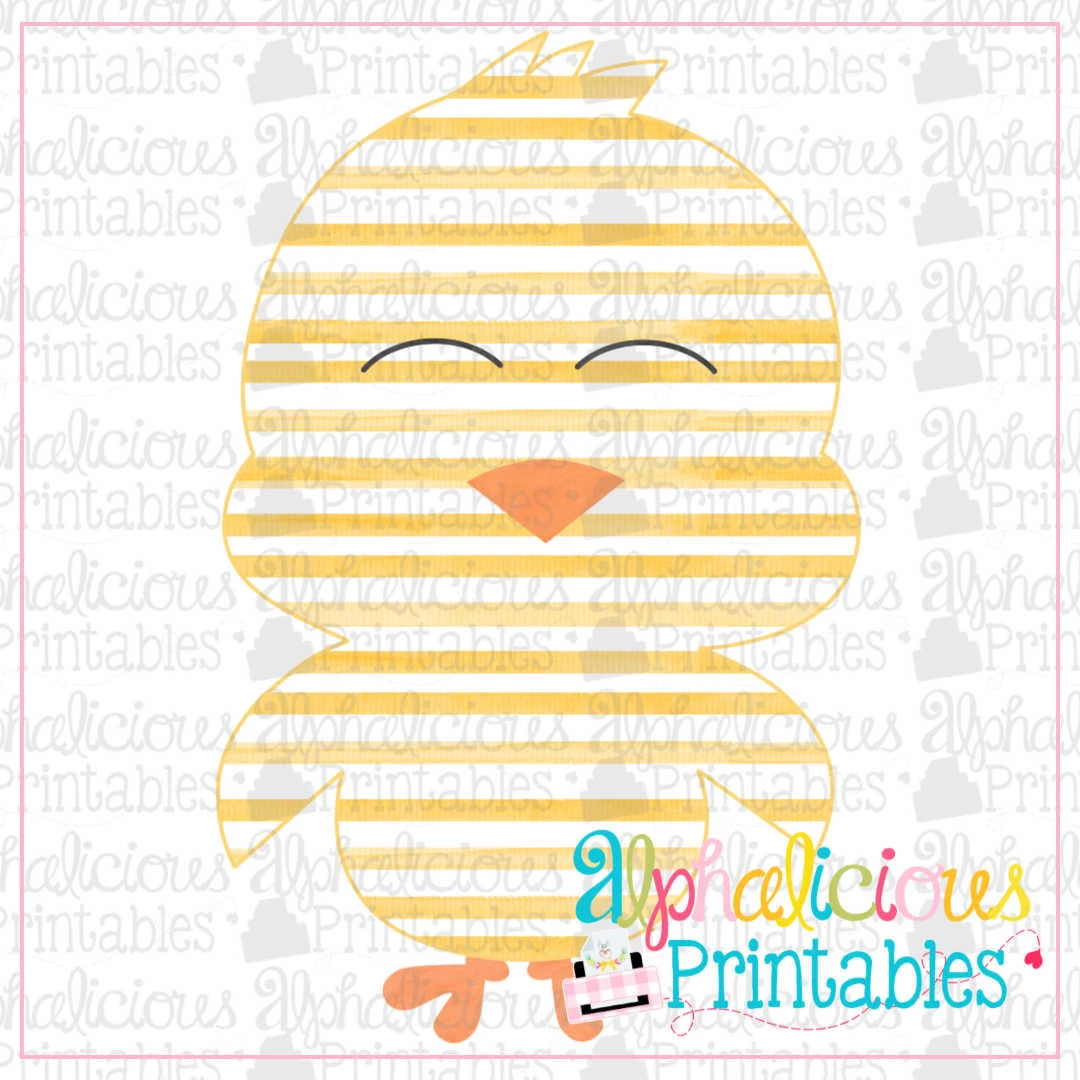 Little Chick-Stripe-Printable