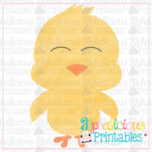 Little Chick-Watercolor-Printable