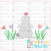 Spring Rabbit With Butterfly-Printable