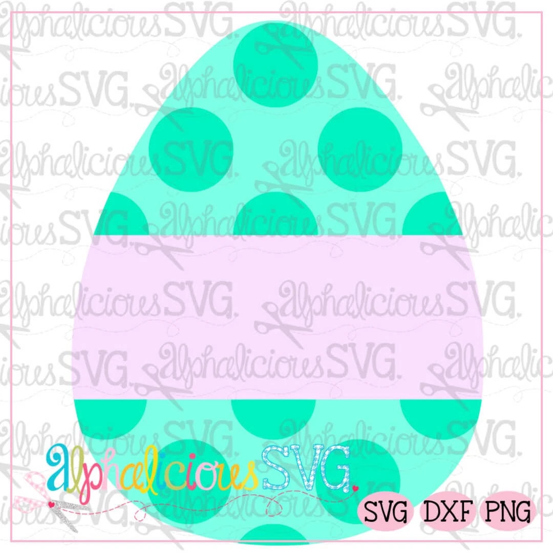 Egg with Banner-Dots-SVG