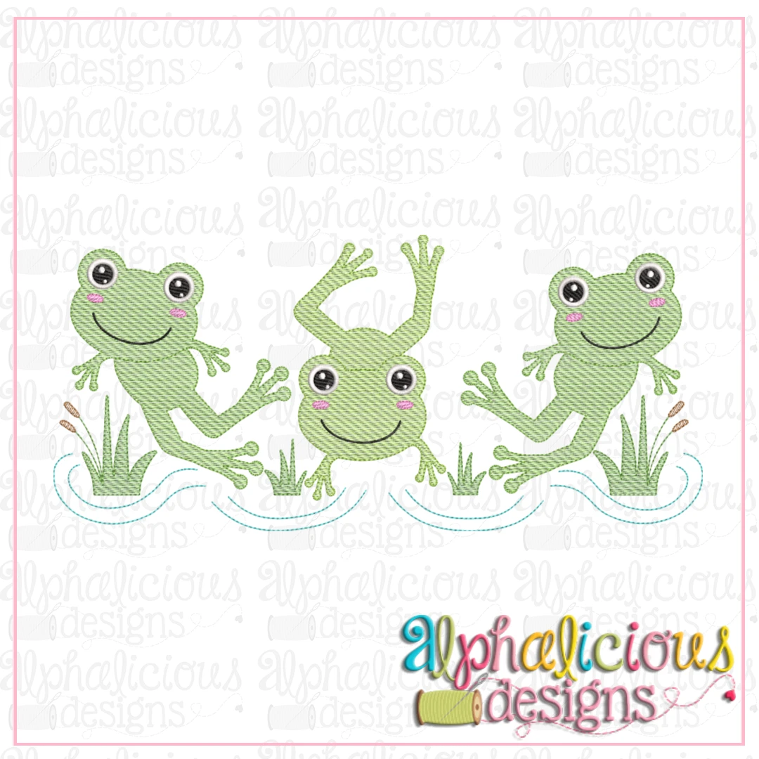 Frogs-Three In A Row-Sketch