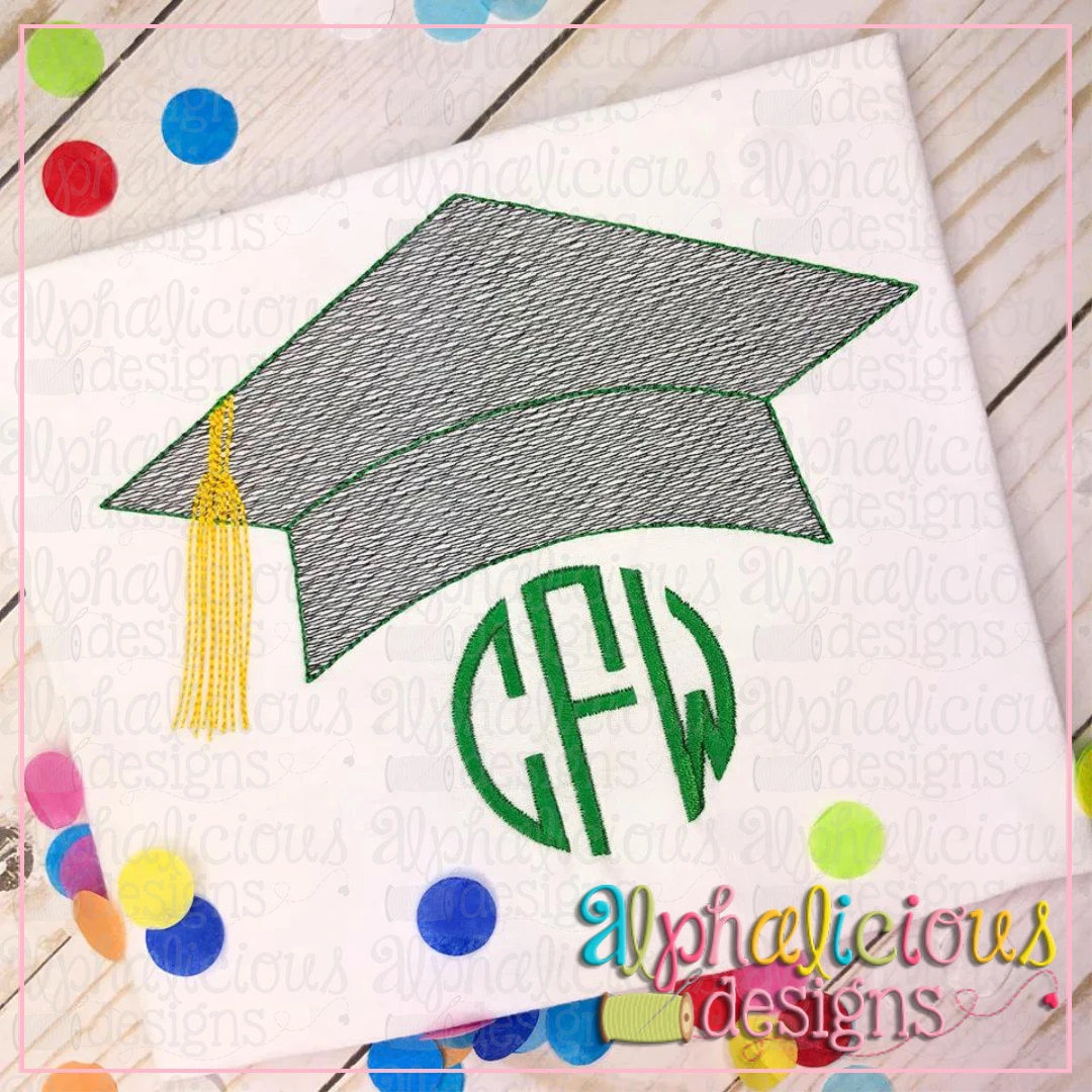Graduation Hat with Tassel-Sketch