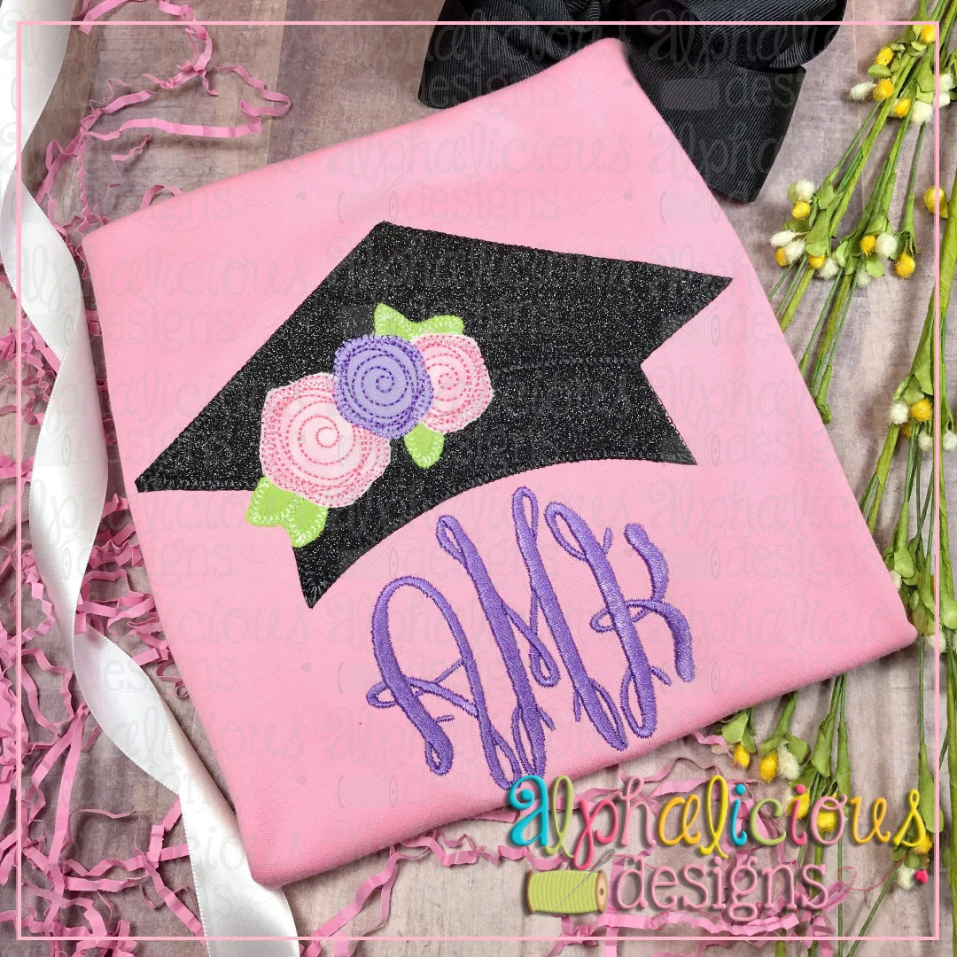 Graduation Hat with Flowers-Blanket