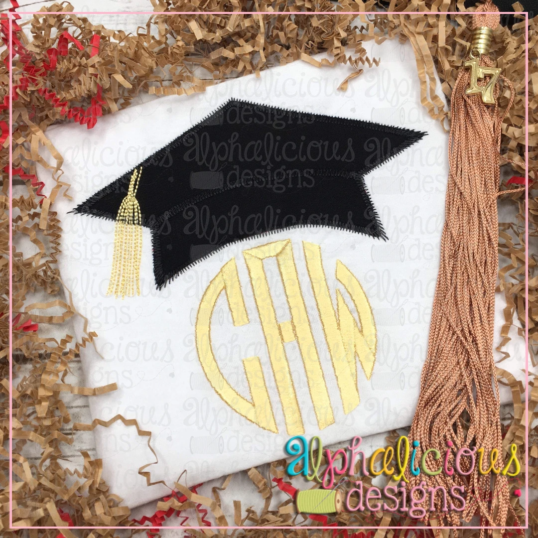 Graduation Hat with Tassel-Zig Zag