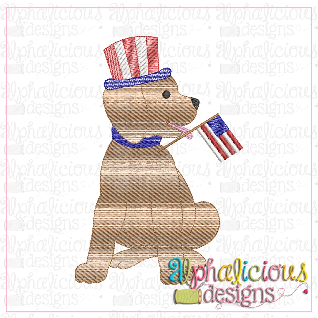 Pup With Flag-Sketch