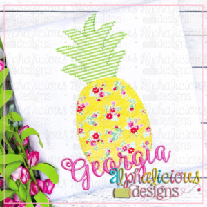 Pineapple Applique Design-Blanket