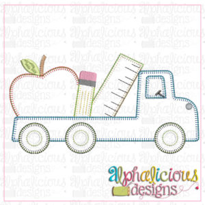 Back To School Flatbed Truck-Blanket