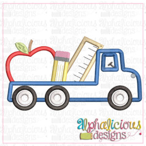 Back To School Flatbed Truck-Satin