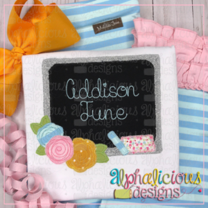 Back To School Floral Blackboard-Blanket