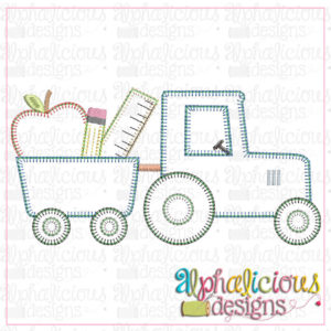 Back To School Tractor-Blanket