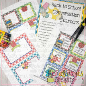 School Days Printable Tags and Cards