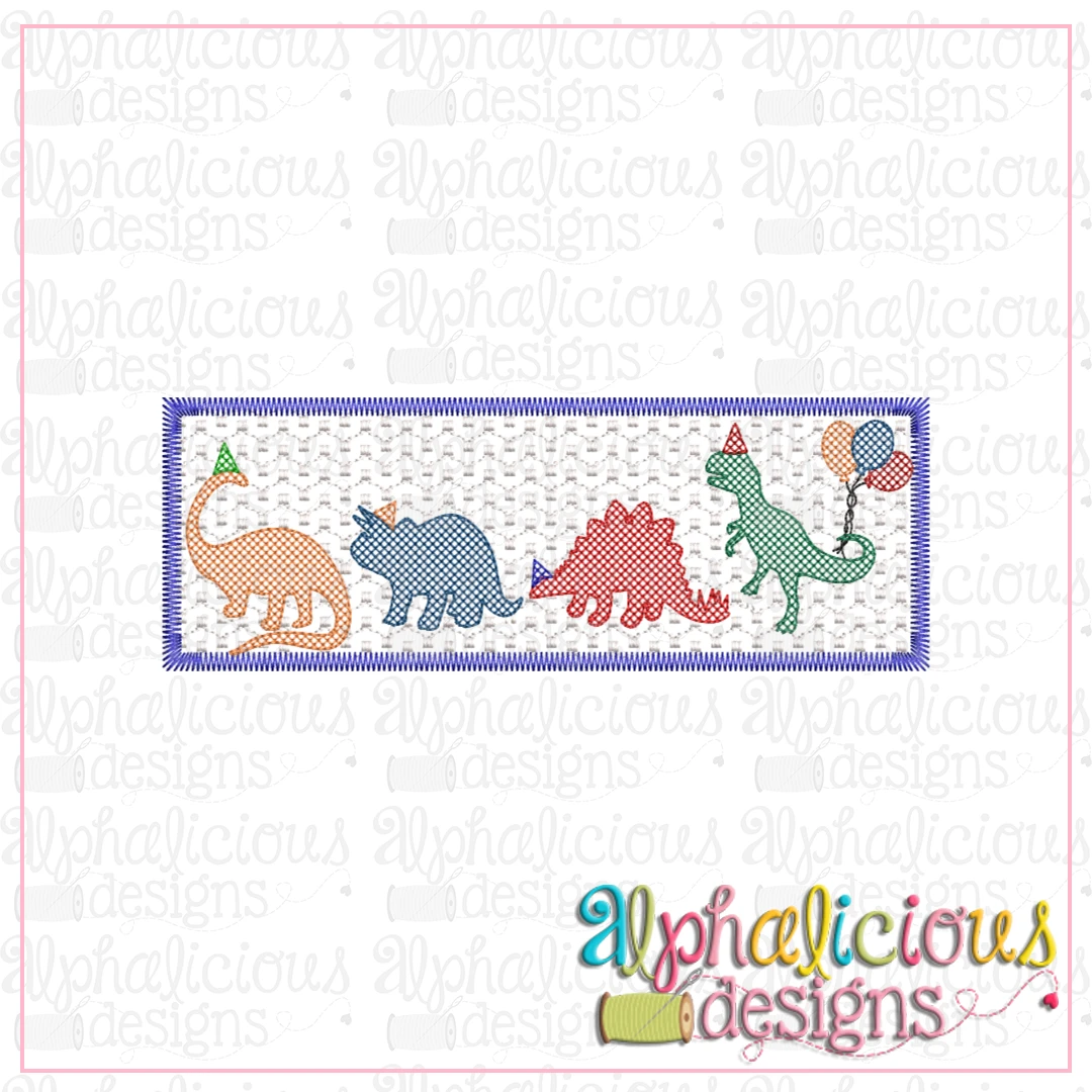 Dino Party Faux Smock
