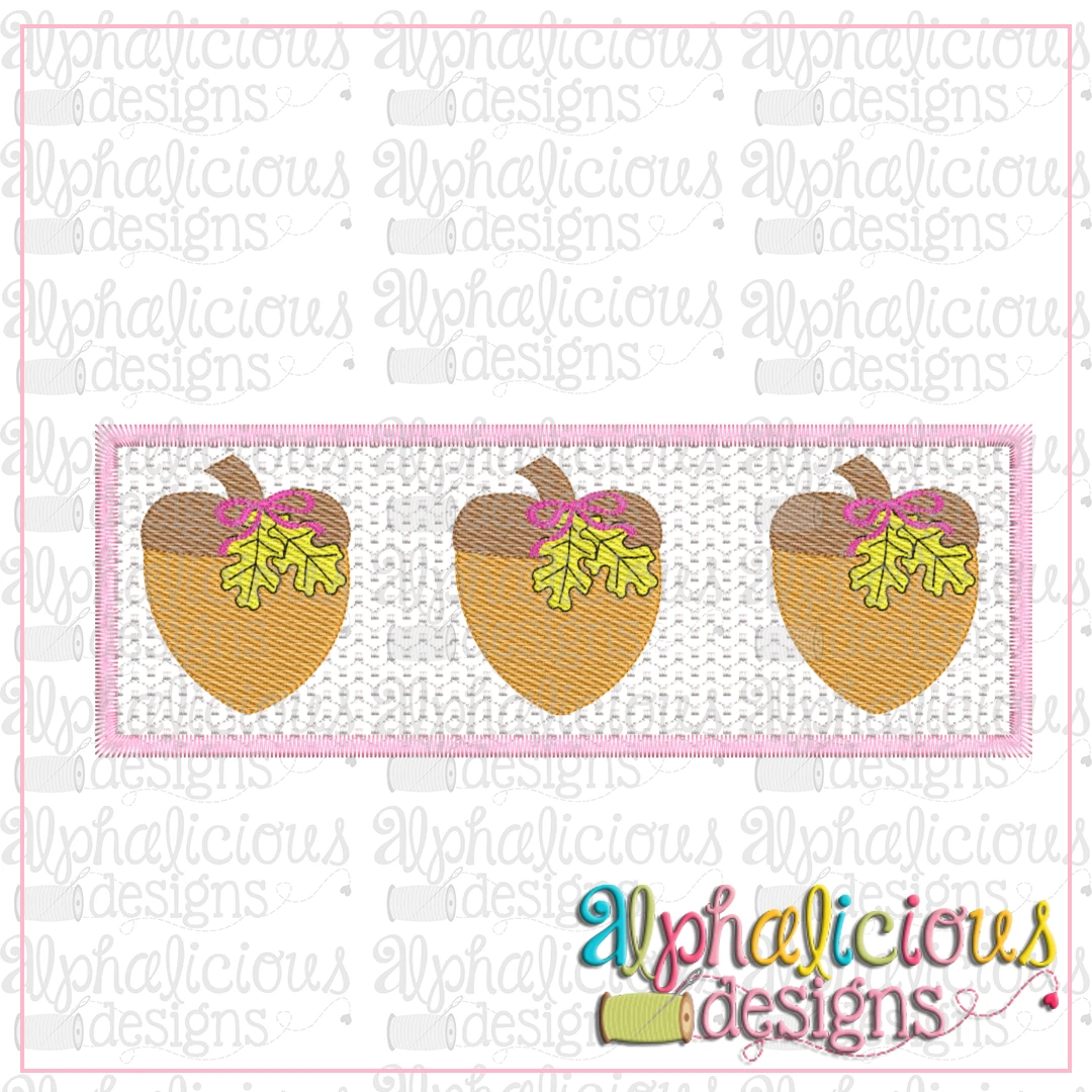 Faux Smocked-Acorns with Bows