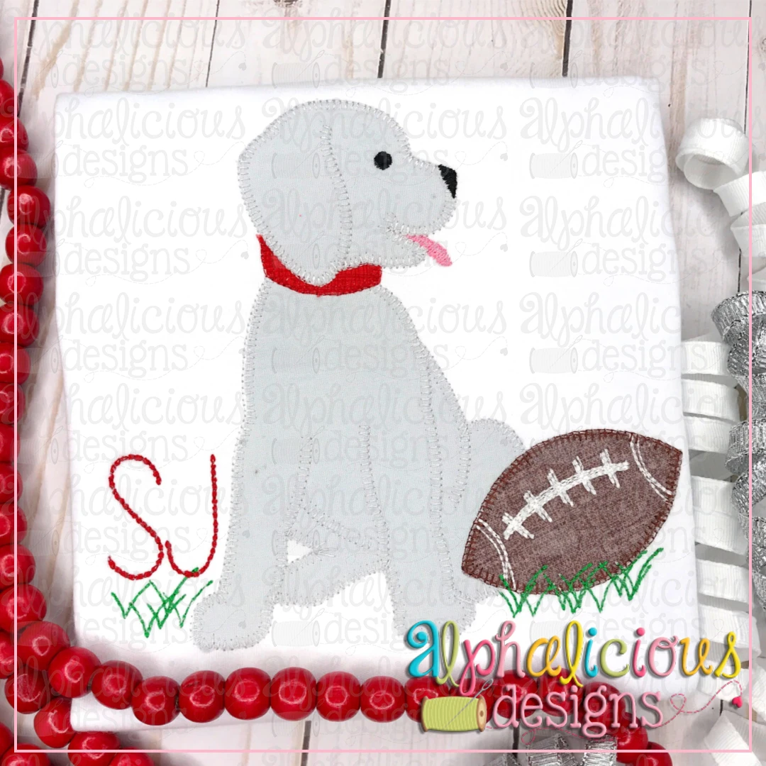 Pup with Football- Blanket
