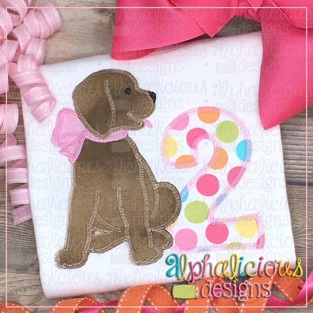 Pup with Bow-Zig Zag