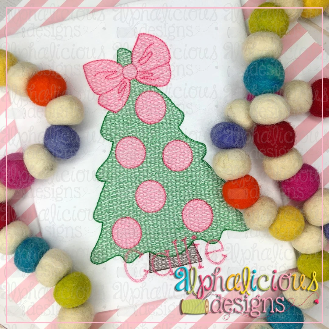 Polka Dot Tree with Bow-Sketch