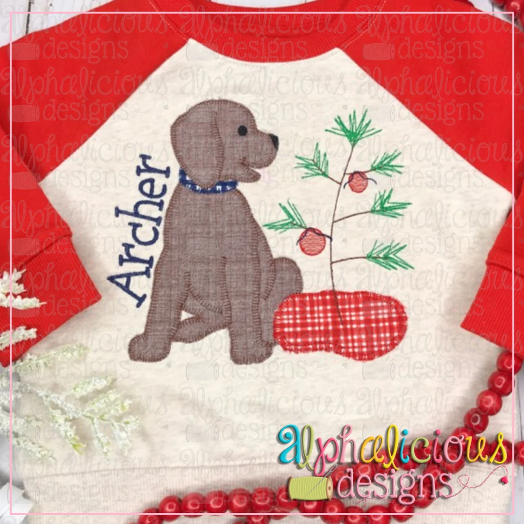 Pup with Tree-Blanket