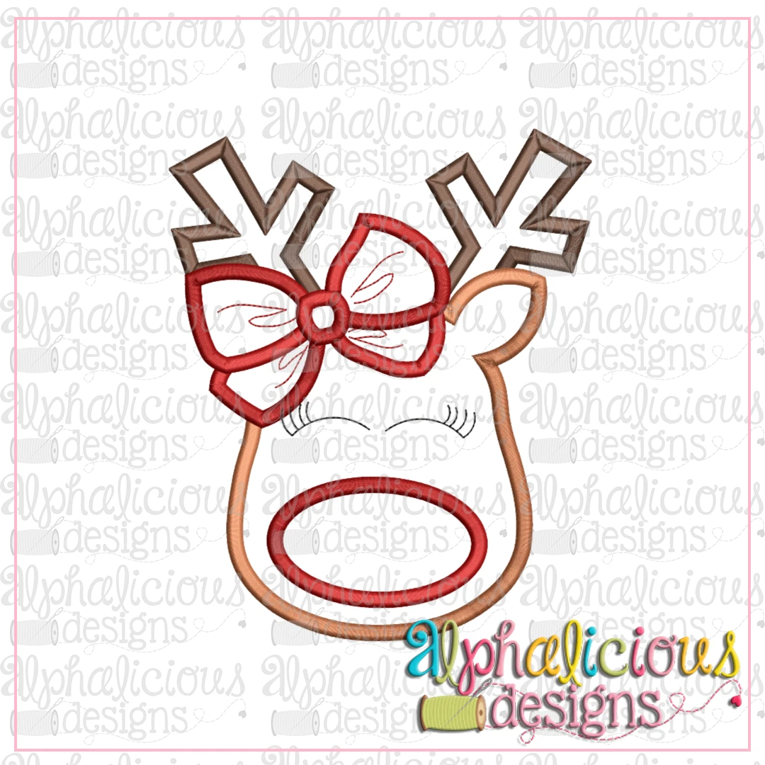 Red Nose Reindeer with Bow-Satin