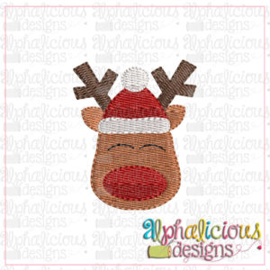 Red Nosed Reindeer with Hat MINI-Fill